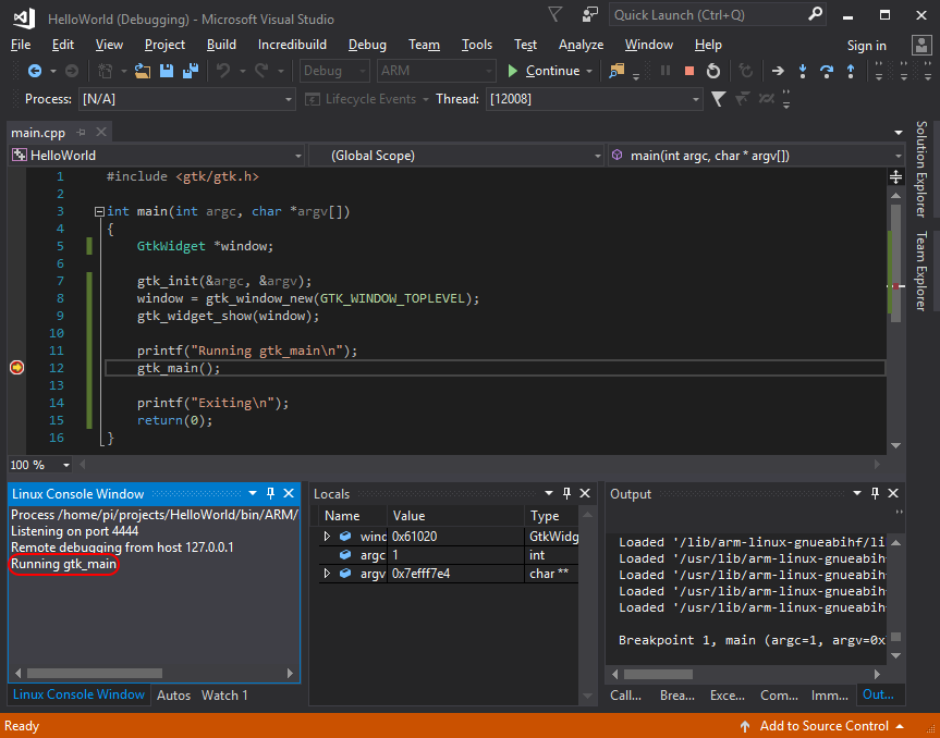 Create a Visual C++ Linux Project In Visual Studio