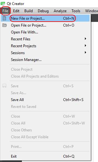 Creating a New Qt Project with Qt Creator